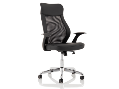 Angelica – Mesh And Leather High Back Operator Chair
