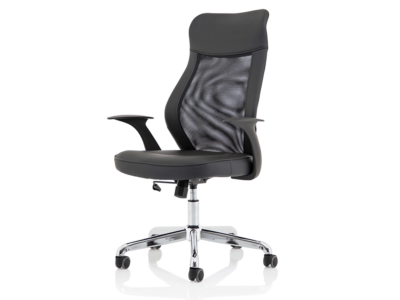 Angelica – Mesh And Leather High Back Operator Chair1