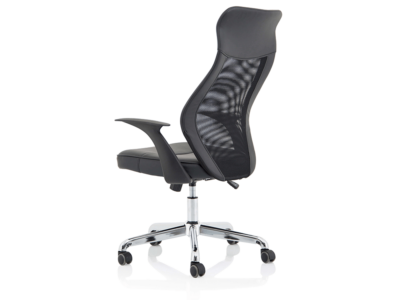 Angelica – Mesh And Leather High Back Operator Chair3