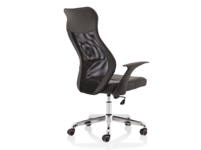 Angelica – Mesh And Leather High Back Operator Chair5