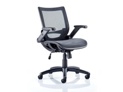 Antonio Black Mesh Operator Chair With Folding Arms