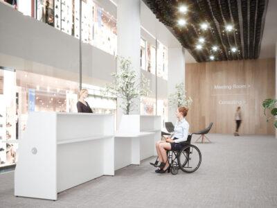 Bienvenue Reception Desks With Dda Approved Wheelchair Access