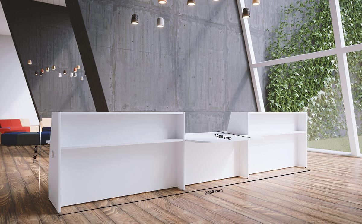 Bienvenue Reception Desks With Dda Approved Wheelchair Access Dimnsion Image