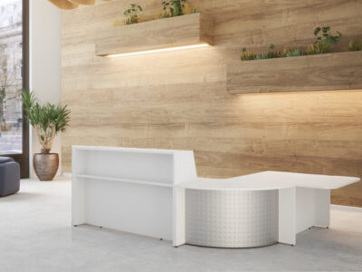 Bienvenue Reception Desks With Optional Corner Unit And Dda Approved Wheelchair Access 2