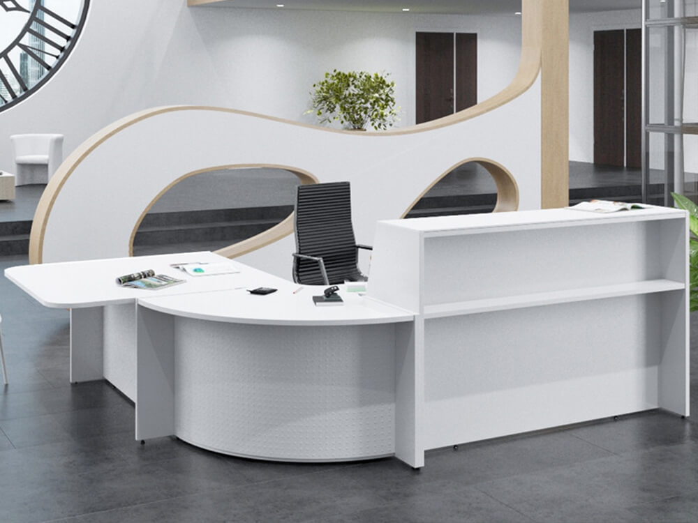 Bienvenue Reception Desks With Optional Corner Unit And Dda Approved Wheelchair Access 3