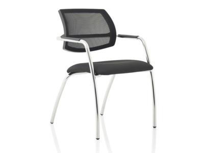 Calix 1 Black Mesh Straight Leg Visitor Chair