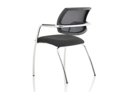 Calix 1 Black Mesh Straight Leg Visitor Chair1