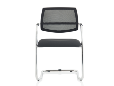 Calix Black Mesh Cantilever Visitor Chair1