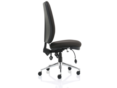Cameo High Back Black Chair Without Arms1