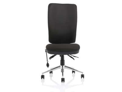 Cameo High Back Black Chair Without Arms2