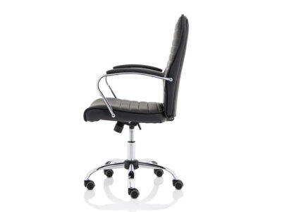 Ciana Black Leather Chair With Arms4