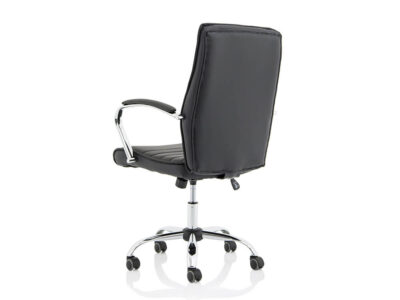 Ciana Black Leather Chair With Arms5