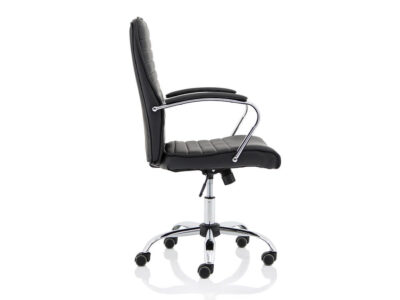 Ciana Black Leather Chair With Arms6