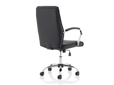 Ciana Black Leather Chair With Arms7