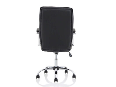 Ciana Black Leather Chair With Arms8
