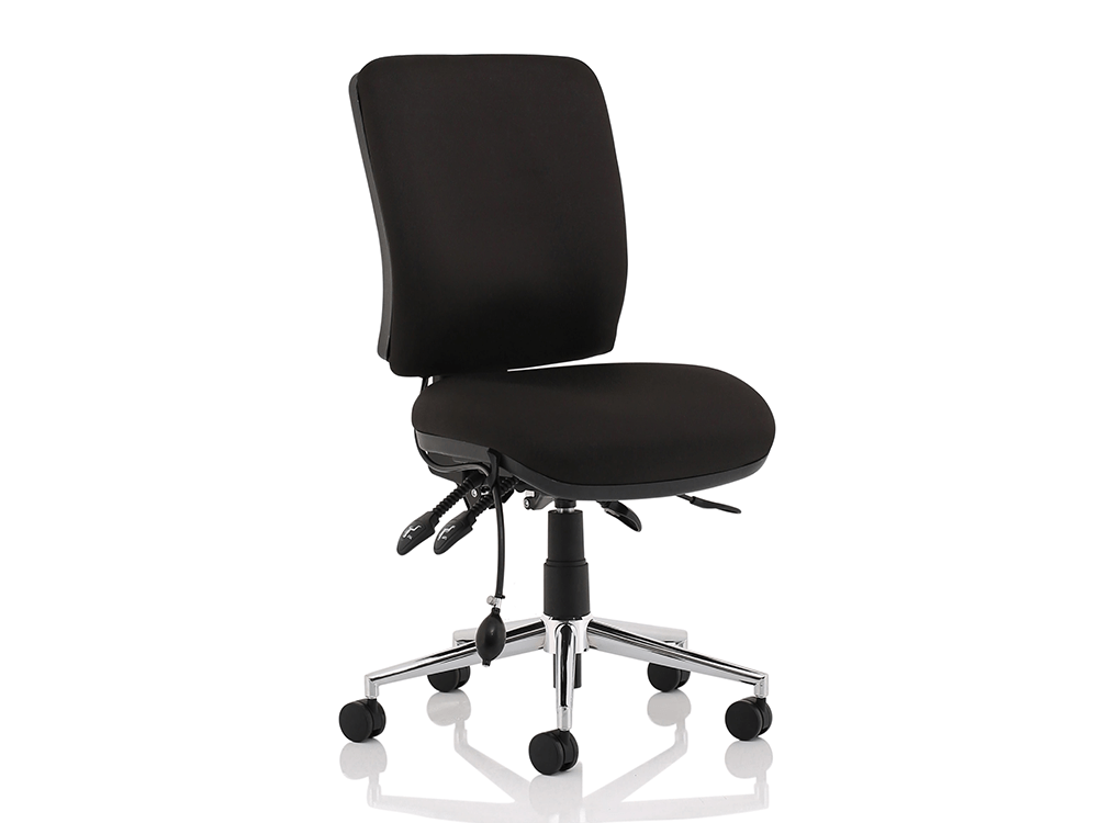 Ciandra Medium Back Black Chair Without Arms