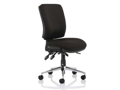 Ciandra Medium Back Black Chair Without Arms1