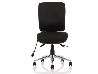 Ciandra Medium Back Black Chair Without Arms2