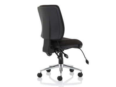 Ciandra Medium Back Black Chair Without Arms3