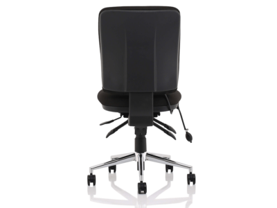 Ciandra Medium Back Black Chair Without Arms5