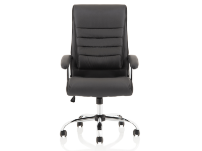 Cinzia High Back Black Polyurethane Chair