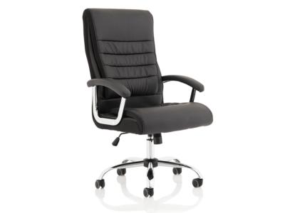Cinzia High Back Black Polyurethane Chair Main