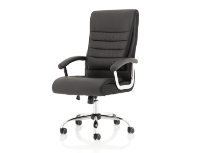 Cinzia High Back Black Polyurethane Chair1
