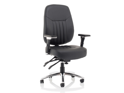 Citra Deluxe Black Operator Chair Leather