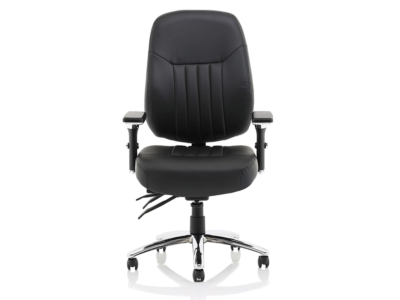 Citra Deluxe Black Operator Chair Leather1