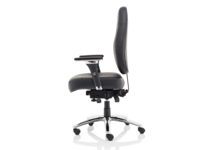 Citra Deluxe Black Operator Chair Leather2