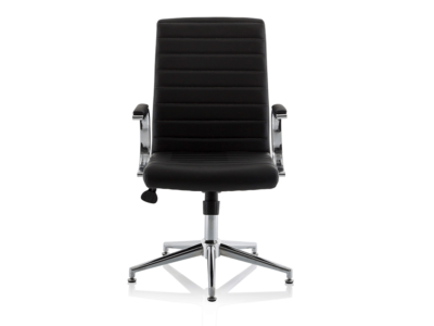 Danny Executive Leather Chair Black Glides