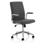 Danny Executive Leather Chair Grey