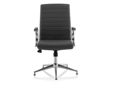 Danny Executive Leather Chair Grey Glides1
