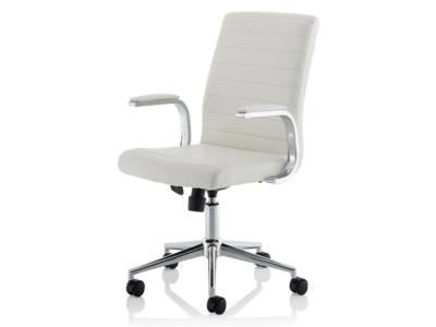 Danny Executive Leather Chair White