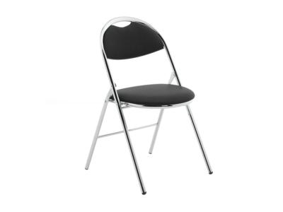 Diva Medium Black Vinyl Folding Chair