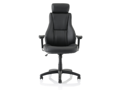 Dixon Black Leather Chair With Headrest1