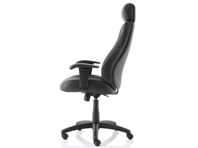 Dixon Black Leather Chair With Headrest3