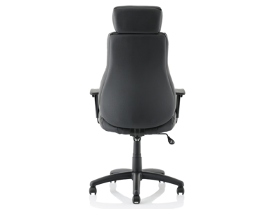 Dixon Black Leather Chair With Headrest4