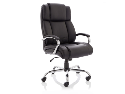Drusilla Hd Leather High Black Chair With Arms