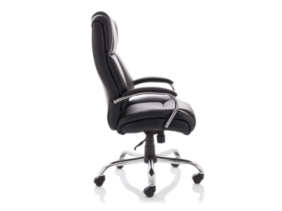 Drusilla Hd Leather High Black Chair With Arms2
