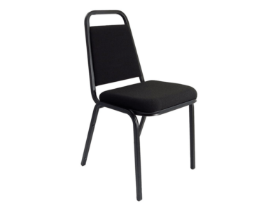 Dulce Medium Black Fabric Stacking Visitor Chair