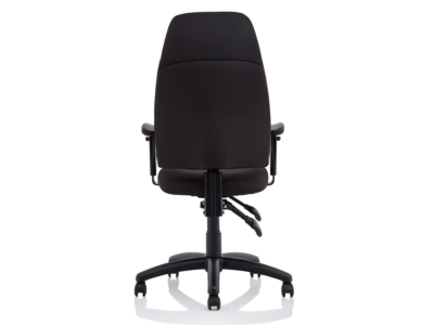 Elisa Black Fabric Chair With Height Adjustable Arms2