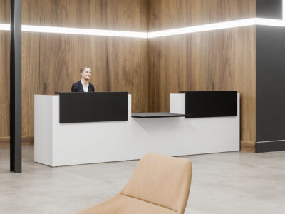 Fifty Full Reception Desks With Dda Approved Wheelchair Access