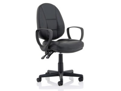 Flavia Black Leather High Back Executive Chair