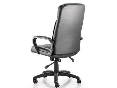 Glover Black Bonded Leather Executive Chair With Arms1
