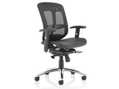 Harley Black Mesh Executive Chair With Arms