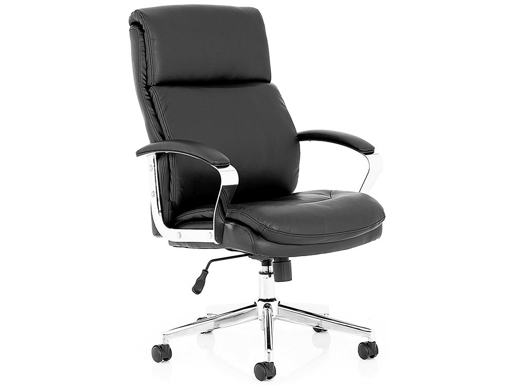 Jalie Black Leather Executive Chair