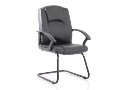 Lazaro Bonded Leather Cantilever Chair With Arms