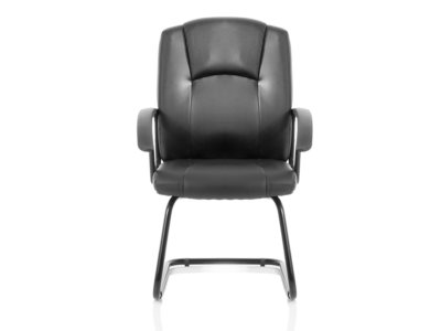 Lazaro Bonded Leather Cantilever Chair With Arms1