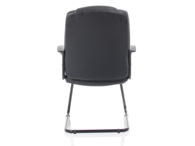 Lazaro Bonded Leather Cantilever Chair With Arms2